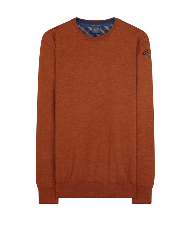 Vintage Knitted Sweater in Rust
