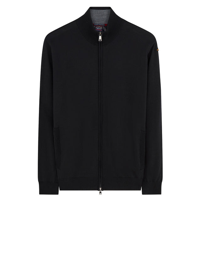 Cool Touch Full Zip Sweater	Black