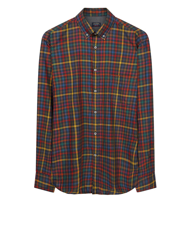 Classic Button Down Shirt in Red Check