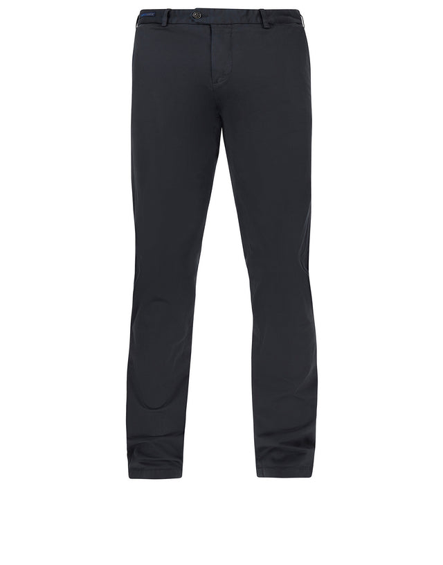 Woven Slim Fit Trousers in Blue