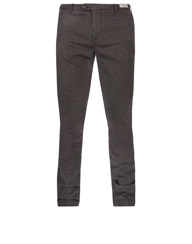 Woven Shark Fit Trousers in Brown