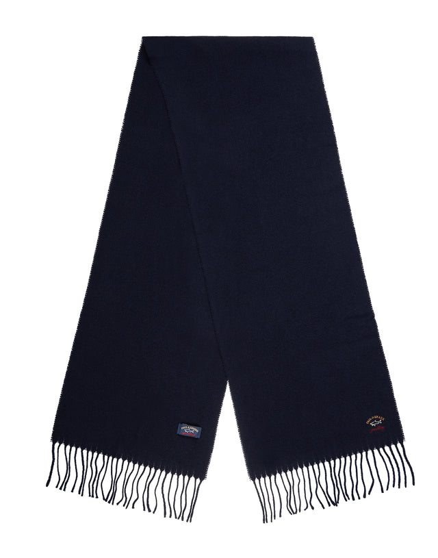 Woven Wool Scarf	in Navy