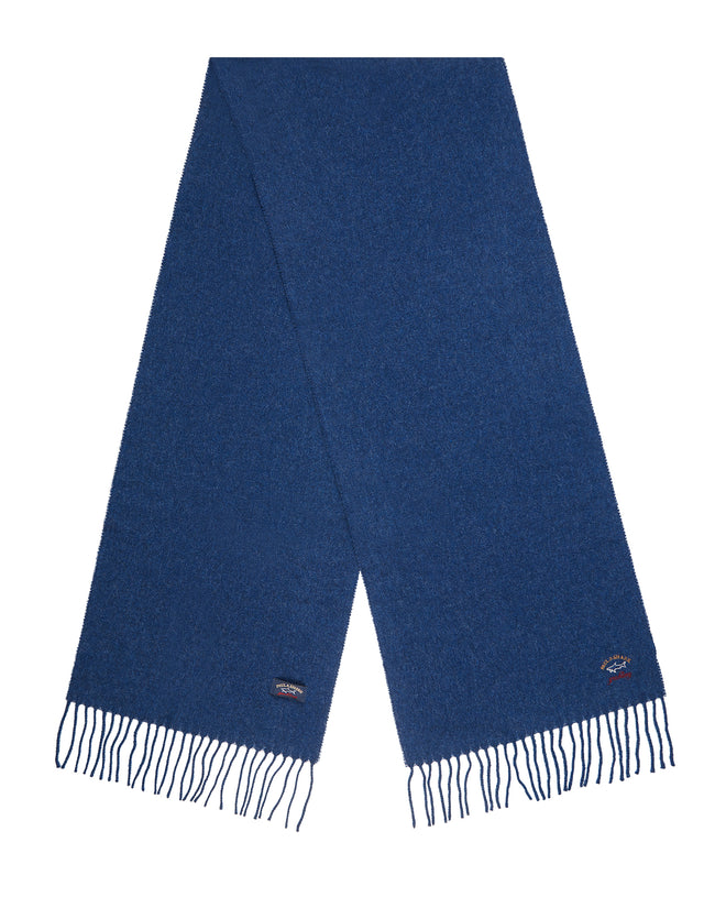 Woven Wool Scarf in Cadet Blue