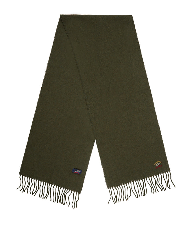 Woven Wool Scarf	in Green Loden