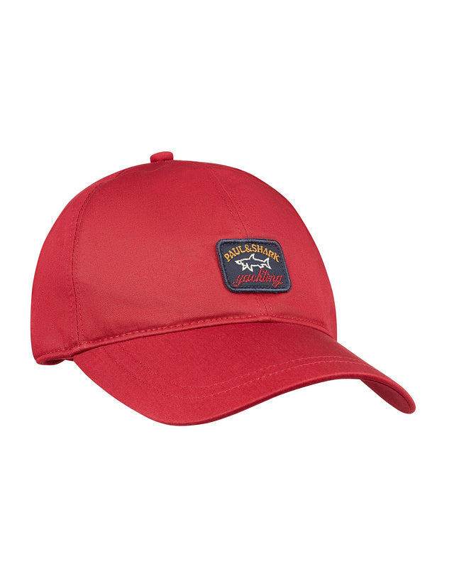 Woven Baseball Cap in Red