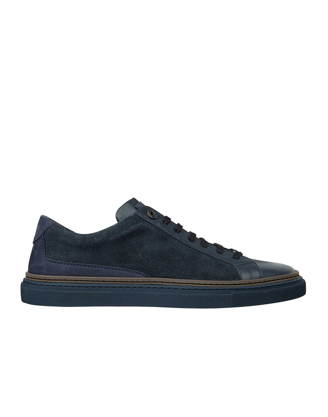 Leather Tennis Shoe in Blue