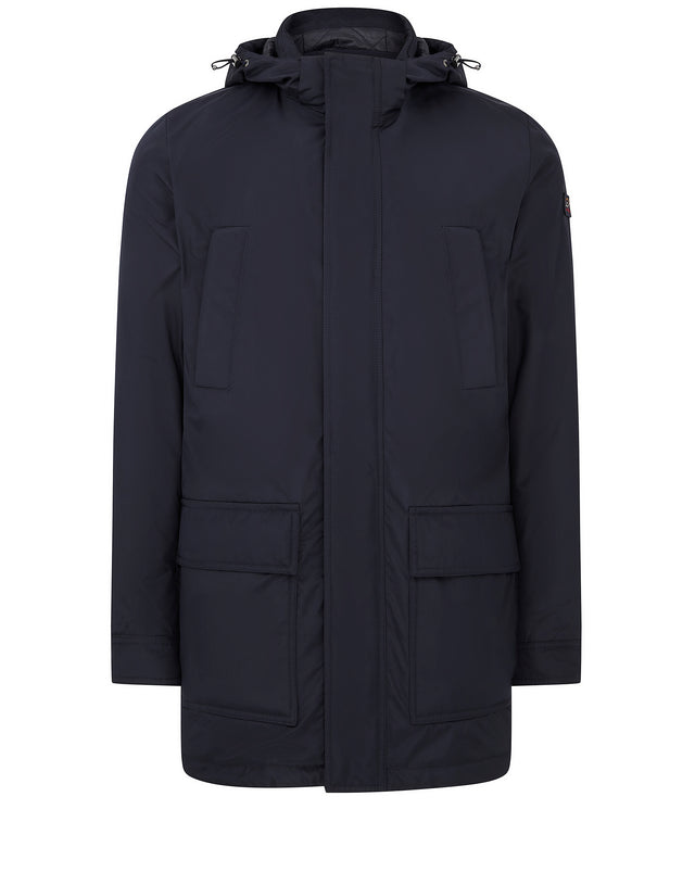 Yachting Series Hooded Coat in Navy