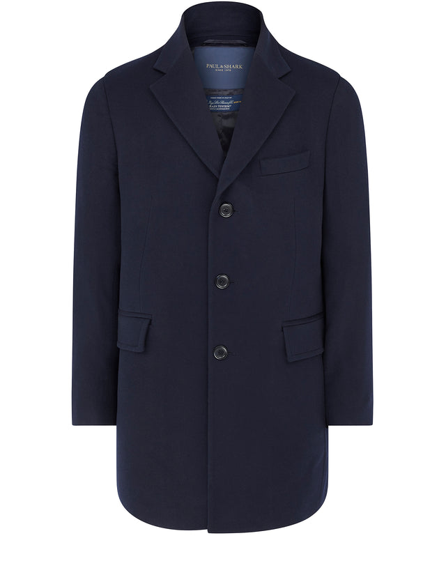 Storm System Cashmere Coat in Blue