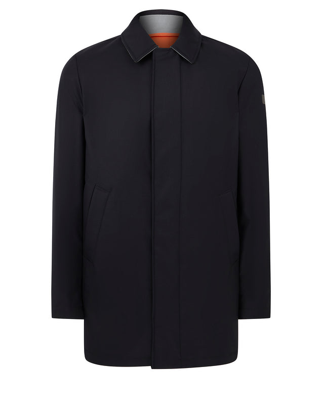 Storm System Trench Coat in Navy
