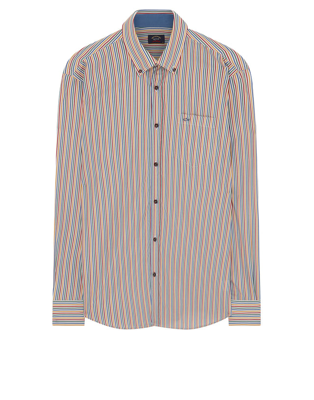 Button-Down Stripe Shirt in Multi