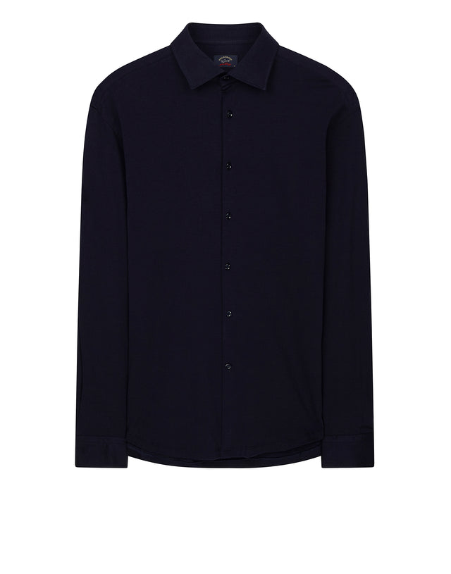 Cotton And Cashmere Blend Shirt in Blue