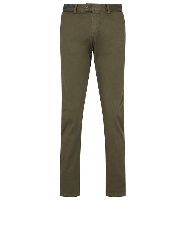 Comfort Touch Stretch Chino in Military Green