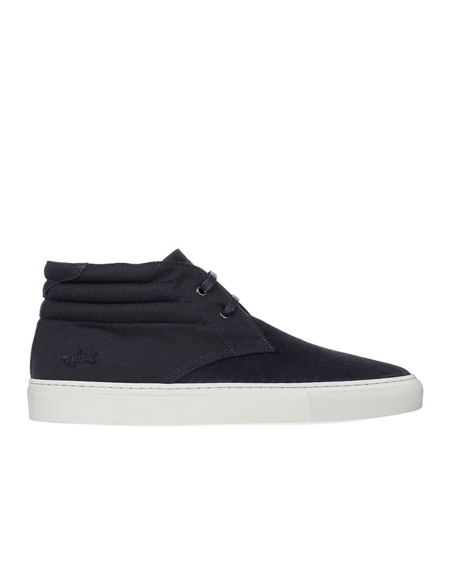 Suede Chukka Mid Sneaker in Blue