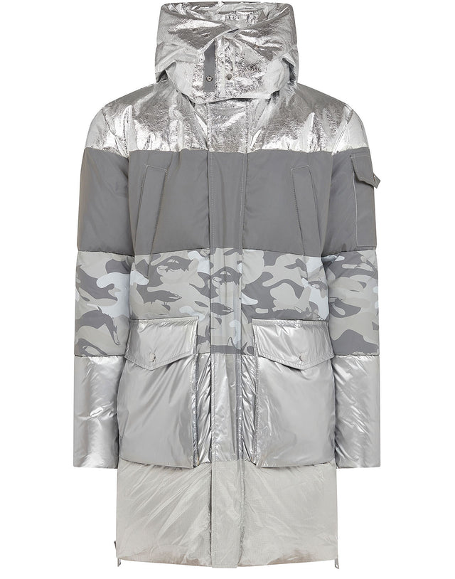 Paul & Shark x Nick Wooster Metallic Parka in Silver