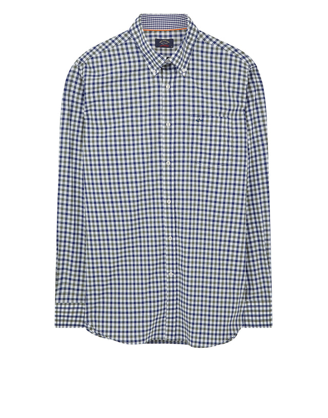 Button-Down Check Shirt in Green