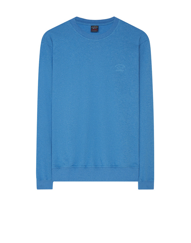 Crew Neck Sweatshirt in Cobalt Blue