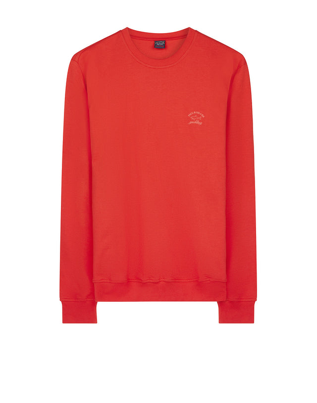 Classic crew neck sweatshirt in Red