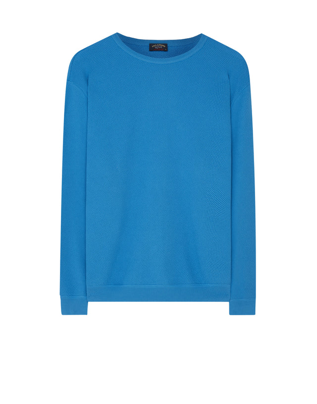 Crew Neck Sweatshirt in Turquoise