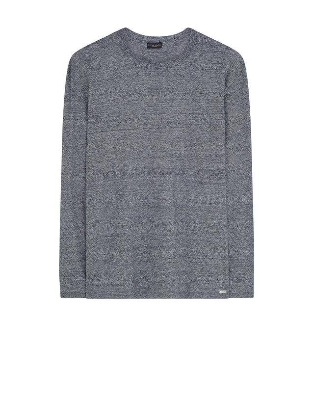Crew Neck Minimal Knit in Grey