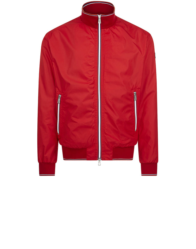 Nylon Full-Zip Track Jacket in Red
