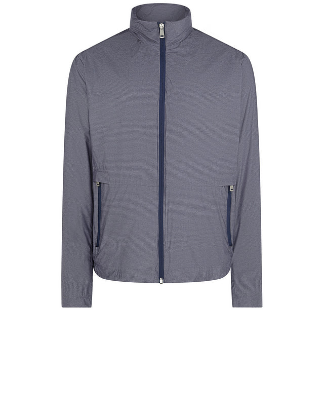 Hooded Windbreaker in Blue