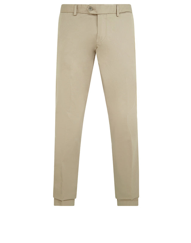 Shark Fit Chino Trousers in Beige