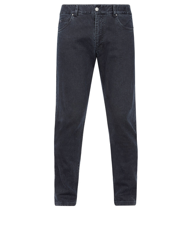 Tapered denim jeans in Navy