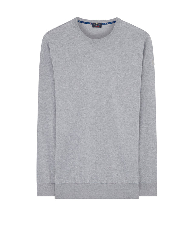 Knitted Crew Neck Jumper in Grey
