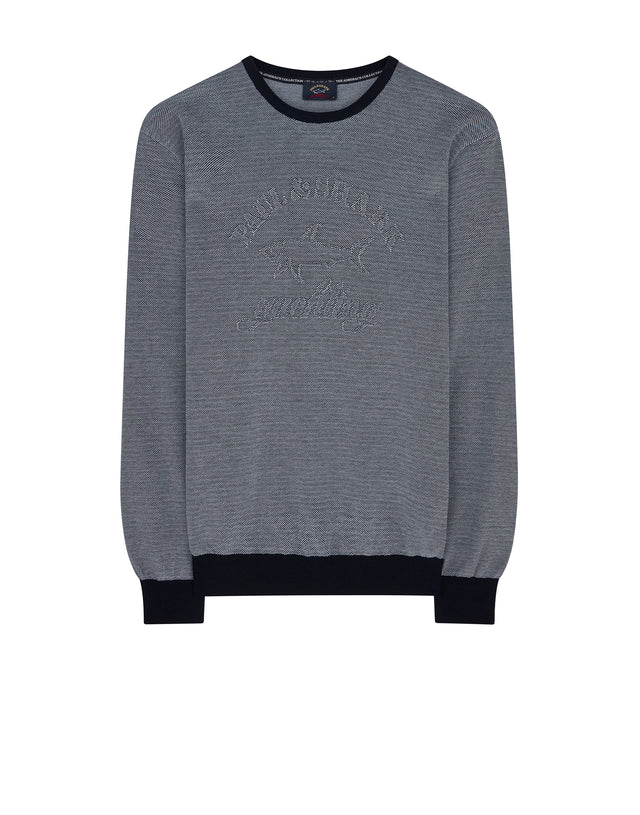 Admiral's Collection Knitted Jumper in Blue