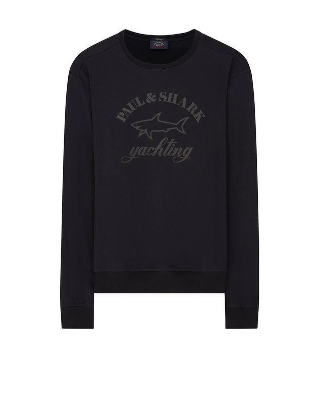Lightwieght Collegiate Sweatshirt in Black