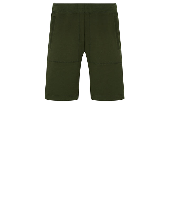 Zip Pocket Sweat Shorts in Green