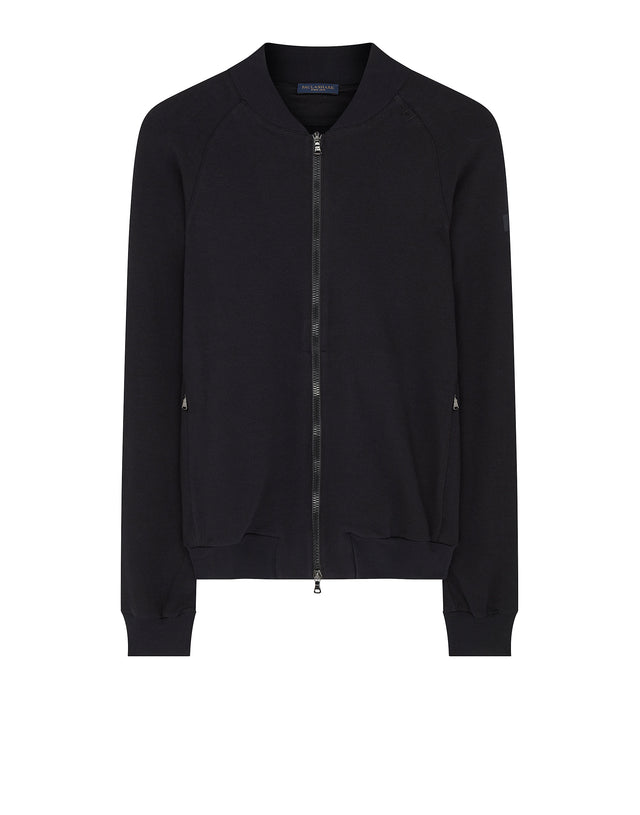 Sweatshirt Bomber Jacket in Black