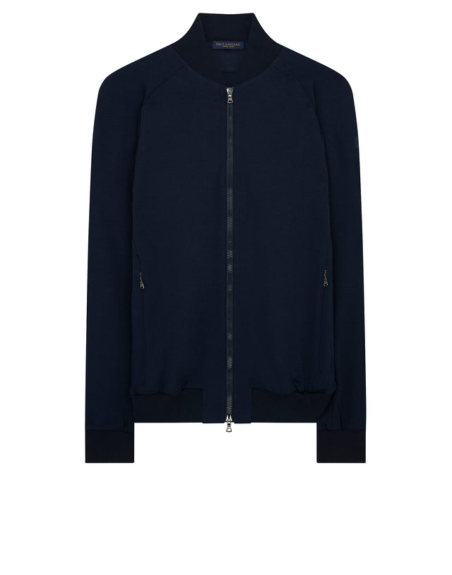 Sweatshirt Bomber Jacket in Blue
