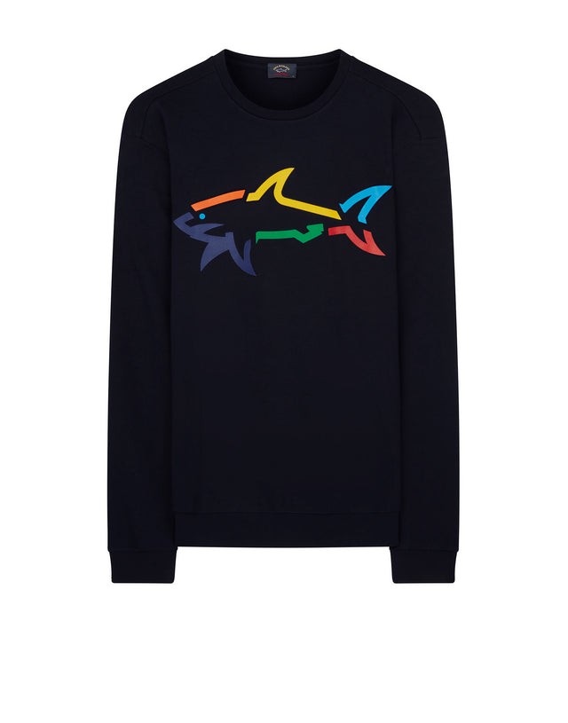 Rainbow Shark Sweatshirt in Blue