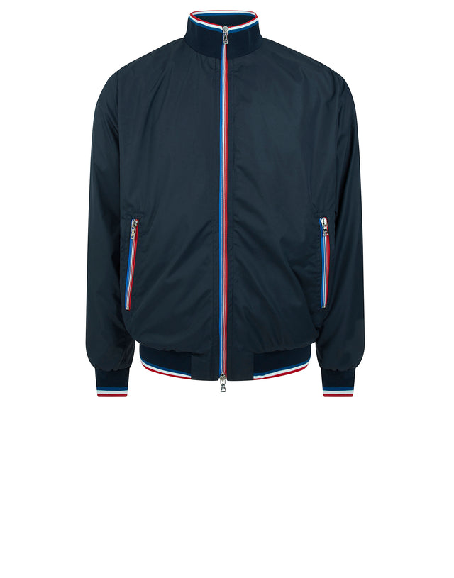 Contrast Detail Nylon Jacket in Navy Blue