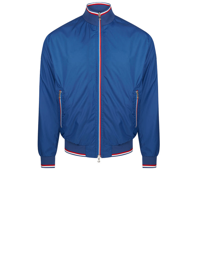 Contrast Detail Nylon Jacket in Cobalt Blue