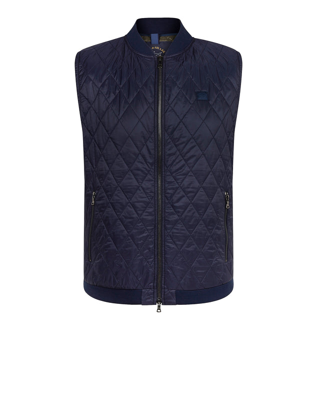 Diamond Quilted Gilet in Blue