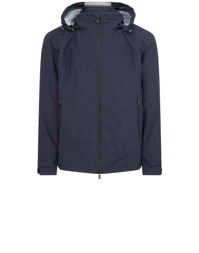 Typhoon Detachable Hood Jacket in Blue