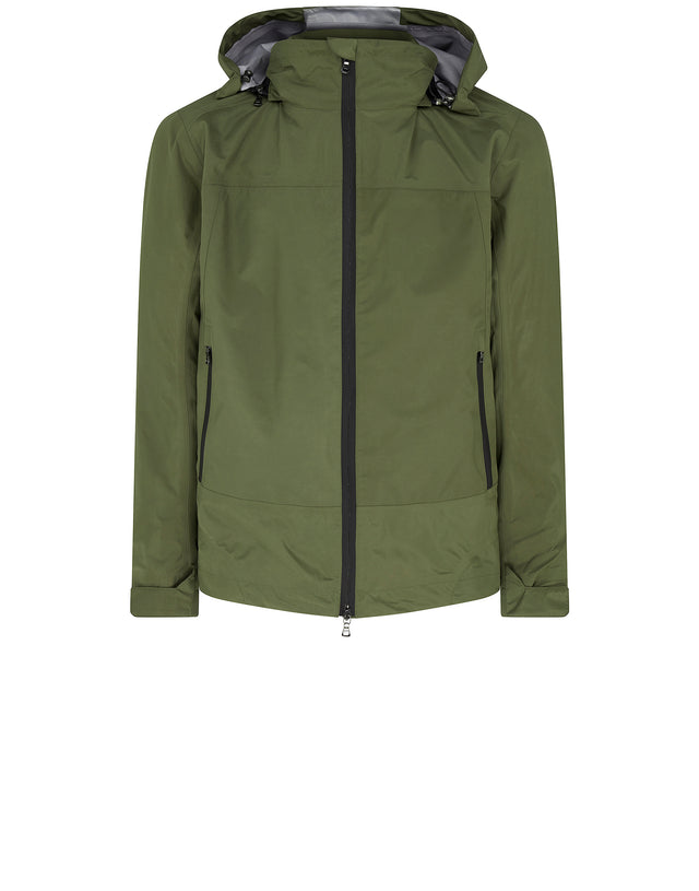 Typhoon Detachable Hood Jacket in Green