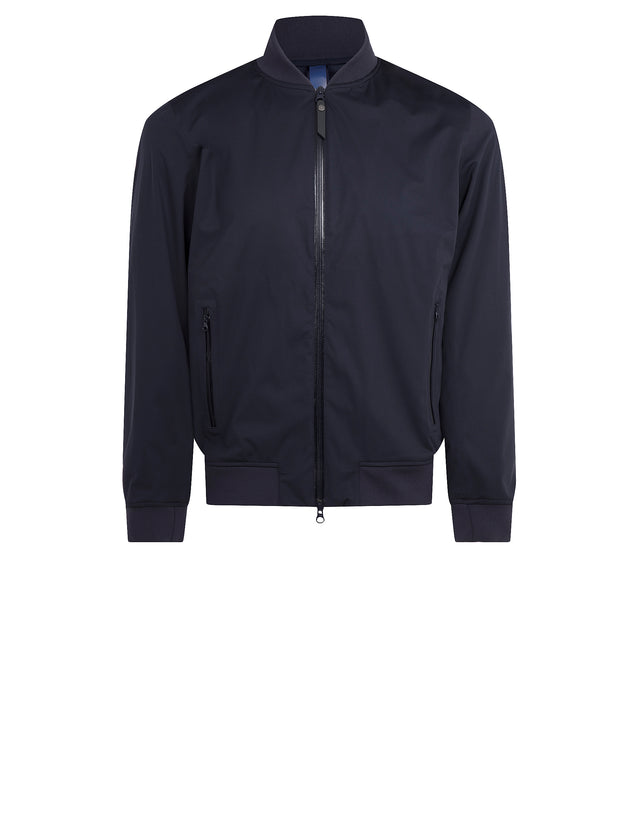 Nylon Bomber Jacket in Blue