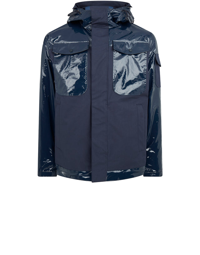 Sharkhub Hooded Sailing Jacket in Blue