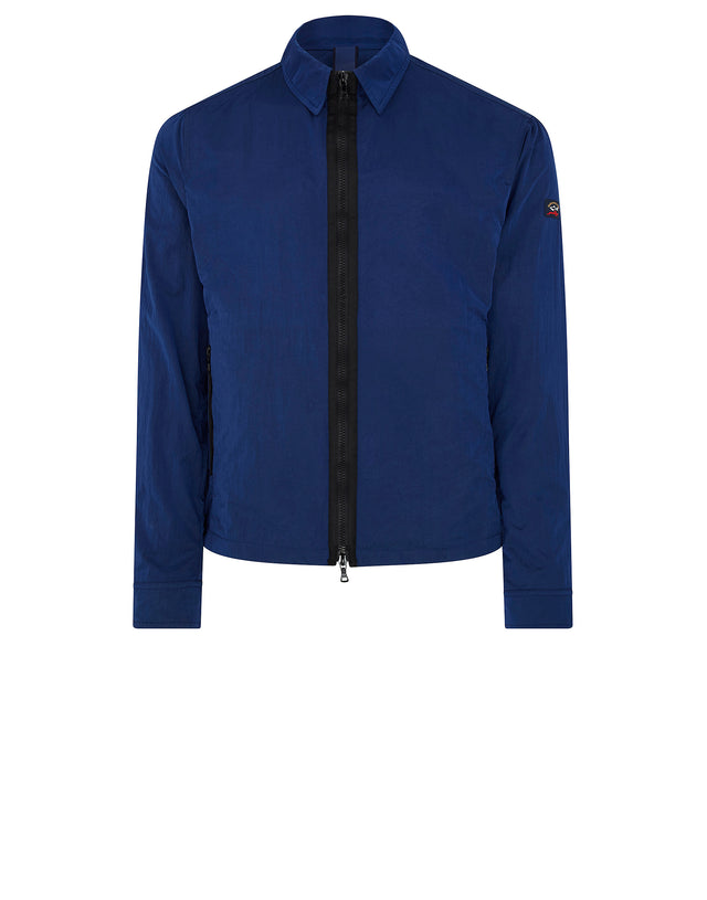 Lightweight Nylon Coach Jacket in Blue
