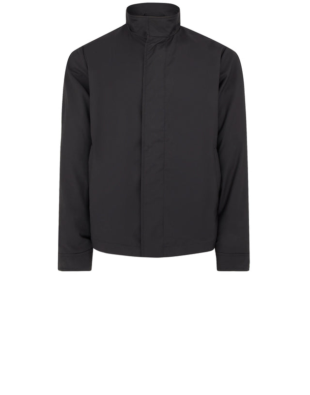 Storm System Stand Collar Jacket in Black