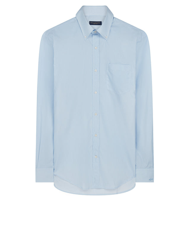 Button-Down Circle Pattern Shirt in Light Blue