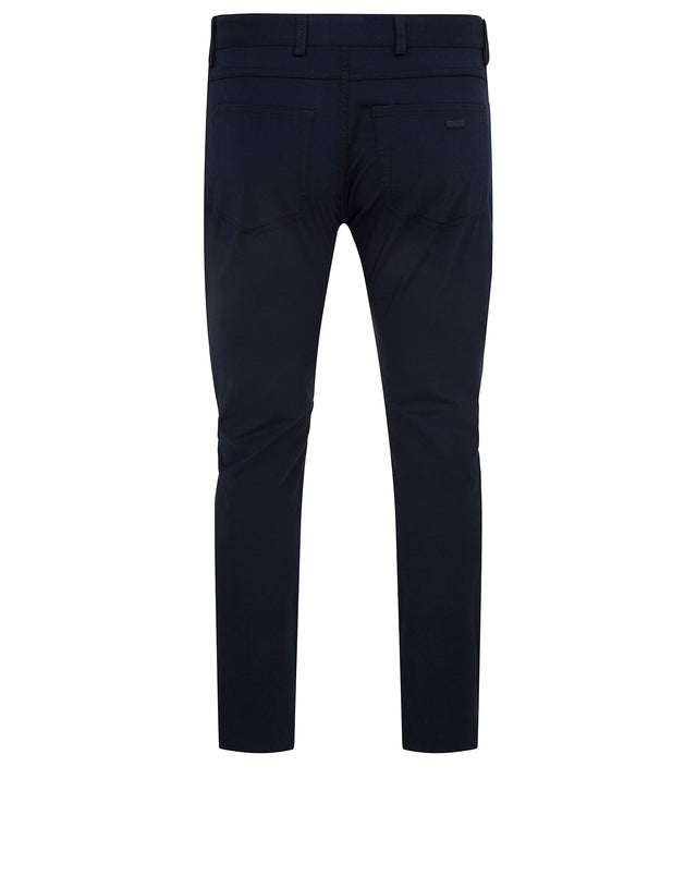 Slim Fit Chinos Trousers in Blue