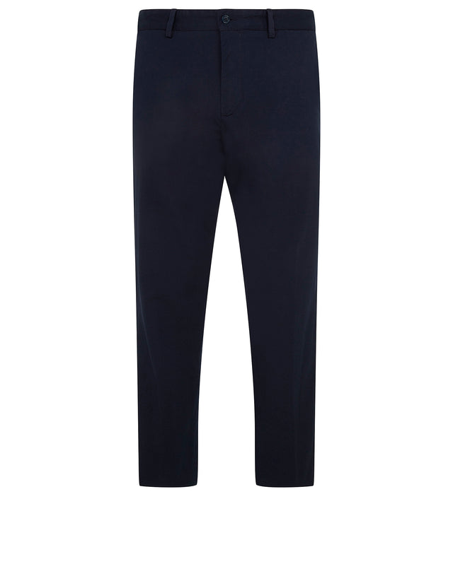 Regular Fit Cotton Trousers in Blue