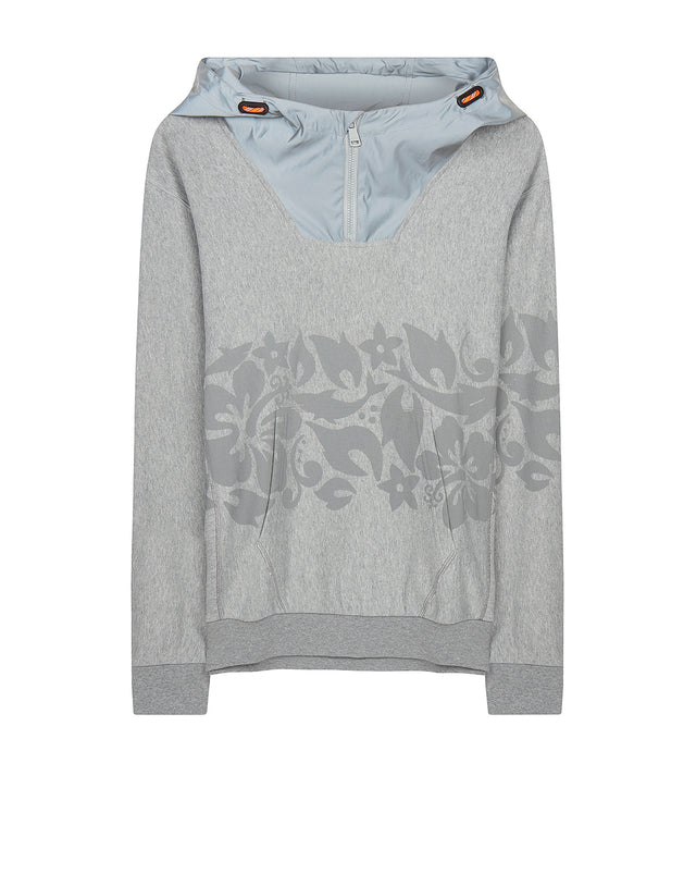 Hoodie With Reflex Print in Grey