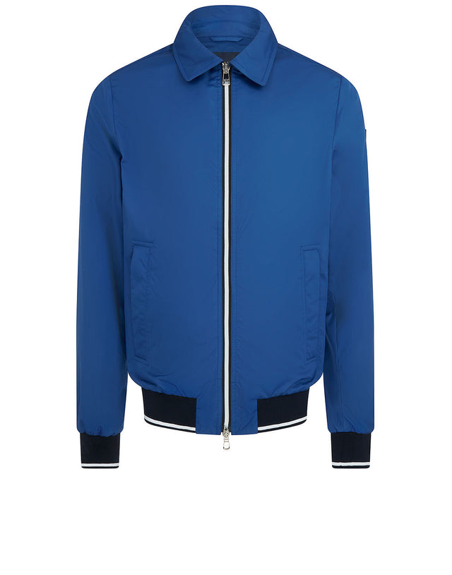 Collar Bomber Jacket in Blue