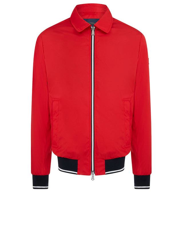 Collar Bomber Jacket in Red