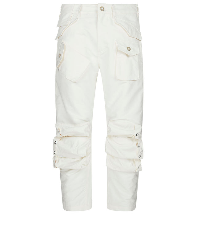 Cargo Trousers in Off White